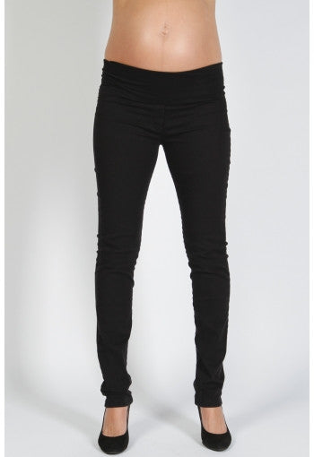 STRETCH DRILL SKINNY LEG JEANS | SIZE M | Pea In A Pod Maternity