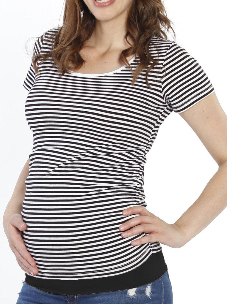 BODY HUGGING MATERNITY TEE | SIZE S | Angel Maternity