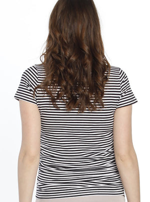 Body Hugging Maternity Tee - Stripes