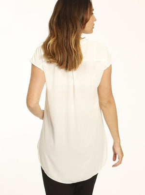 Relax Fit Short Sleeve Work Blouse