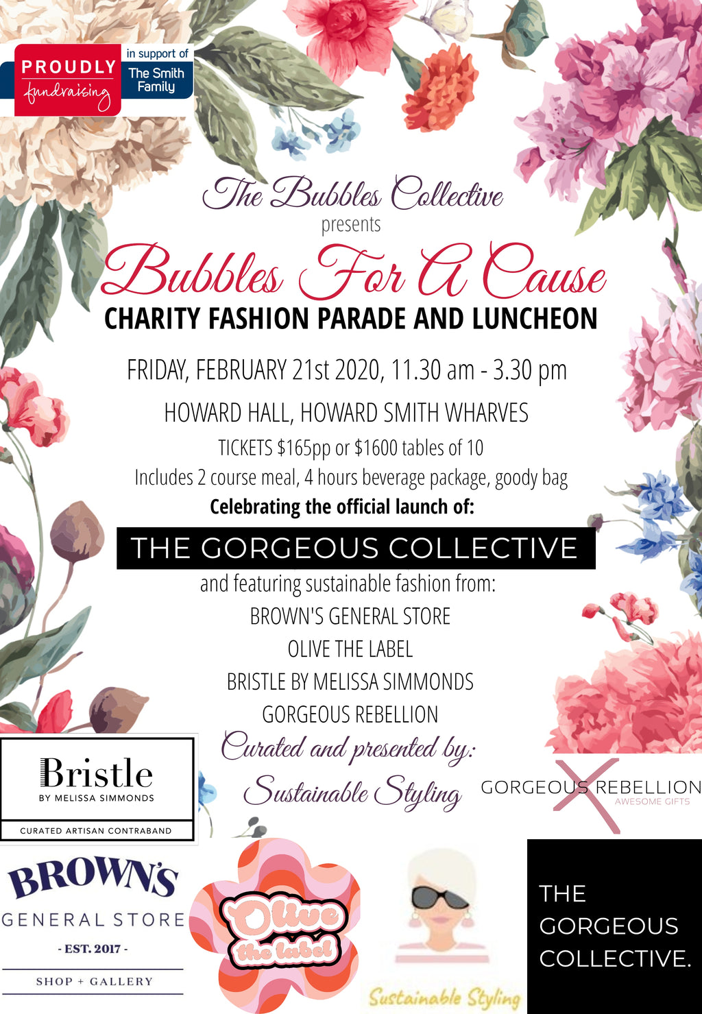 BUBBLES FOR A CAUSE - Charity Fashion Parade & Luncheon
