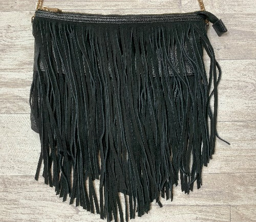 H&M BLACK FRINGE | BAG