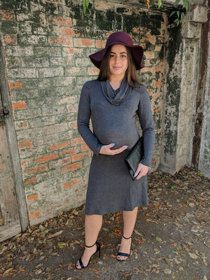 Scoop Knit Maternity Dress - Only size M left!