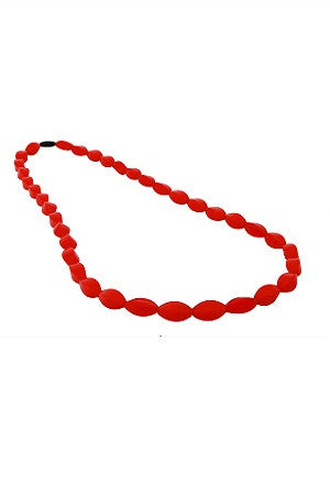 Tulip Bead Necklace Bushfire Red