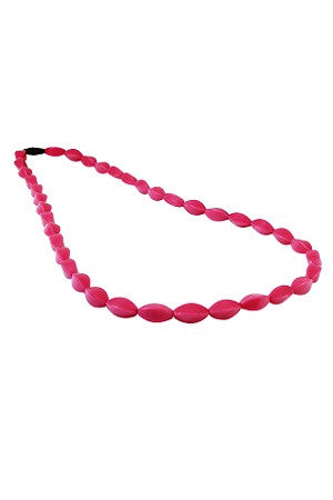 Tulip Bead Necklace Magenta