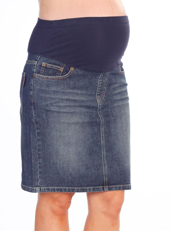 DENIM MATERNITY SKIRT | SIZE S | Angel Maternity
