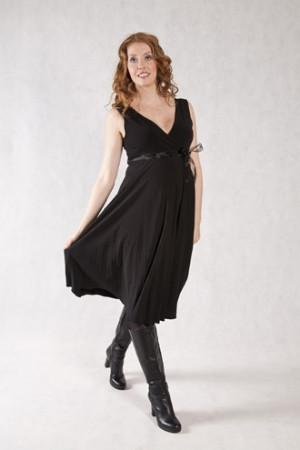 BLACK SUNRAY DRESS | SIZE XS | Szabo Maternity