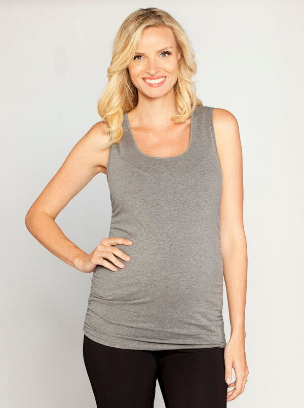 Basic Maternity Tank - Dark Grey