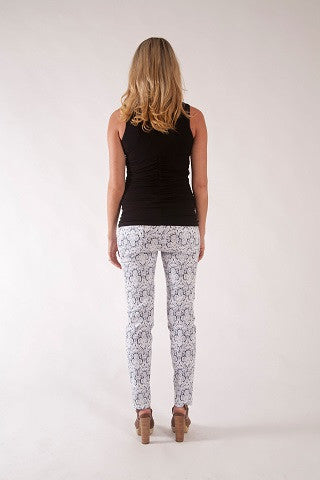 FLOWER PENCIL PANTS | SIZE XS, S, M | Szabo Maternity