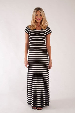 MAXI STRIPED DRESS | SIZE S, L | Szabo Maternity
