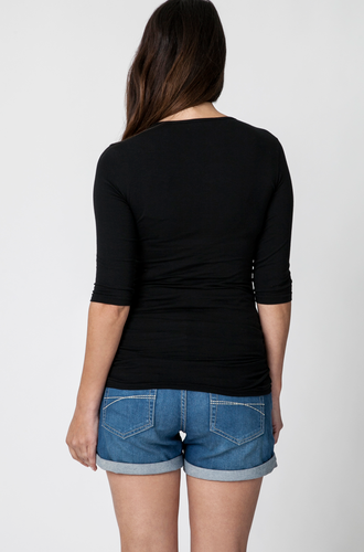 ELBOW SLEEVE TUBE TEE | SIZE XL | Ripe Maternity