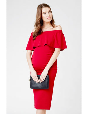 SOIREE OFF THE SHOULDER DRESS | SIZE S, L | Ripe Maternity