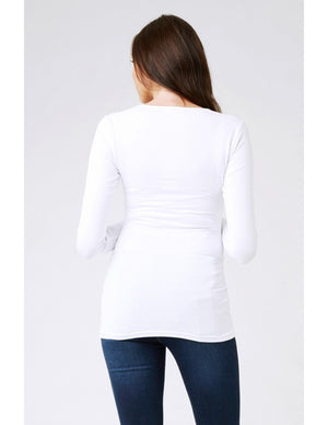 Long Sleeve Tube Tee - White