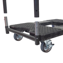 Load image into Gallery viewer, 1,200 lb General Purpose E-Track Push Cart Dolly Black