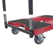 Load image into Gallery viewer, 1,200 lb General Purpose E-Track Push Cart Dolly Red