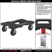 Load image into Gallery viewer, 1,500 lb All-Terrain E-Track Dolly Black