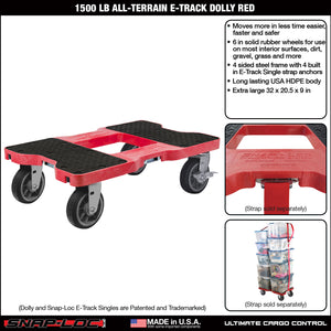 1500 lb ALL-TERRAIN E-TRACK DOLLY Red