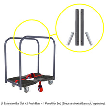 Load image into Gallery viewer, 1,500 lb Industrial Strength E-Track Push Cart Dolly Black
