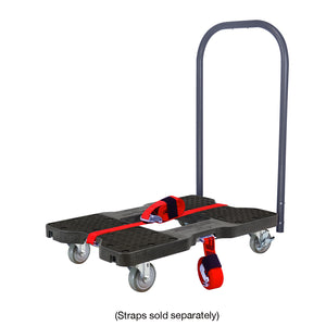 1,500 lb Industrial Strength E-Track Push Cart Dolly Black
