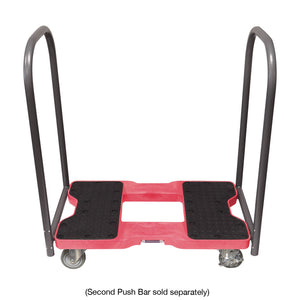 1,500 lb Industrial Strength E-Track Push Cart Dolly Red