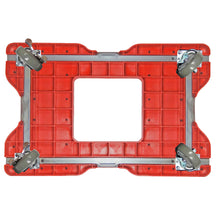 Load image into Gallery viewer, 1500 lb INDUSTRIAL E-TRACK PUSH CART Red