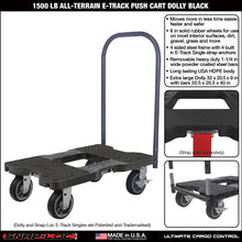 Load image into Gallery viewer, 1500 lb ALL-TERRAIN E-TRACK PUSH CART Black