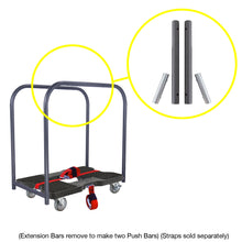 Load image into Gallery viewer, 1,500 lb Industrial Strength E-Track Panel Cart Dolly Black