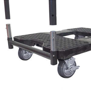 1,500 lb Industrial Strength E-Track Panel Cart Dolly Black