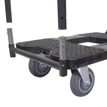 Load image into Gallery viewer, 1800 lb SUPER-DUTY E-TRACK PANEL CART Black