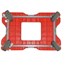 Load image into Gallery viewer, 1800 lb SUPER-DUTY E-TRACK PANEL CART Red