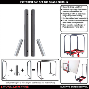 Extension Bar Set for Snap-Loc E-Track Dolly