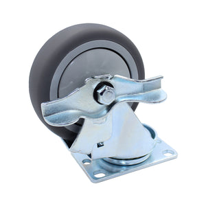 300 lb Caster 4 Inch General Purpose Thermoplastic Swivel-Brake