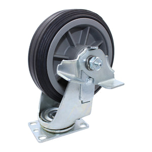 "375 lb CASTER 6"" ALL-TERRAIN SOLID RUBBER SWIVEL-BRAKE"