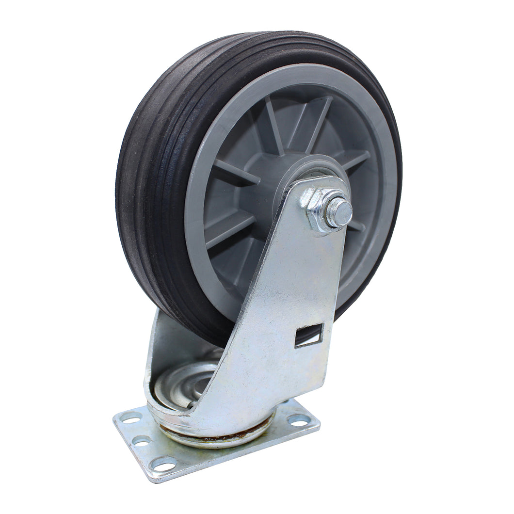 375 lb Caster 6 Inch All-Terrain Solid Rubber Swivel