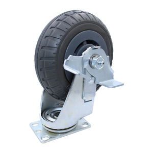 400 lb Caster 6 Inch Extreme-Duty Synthetic Rubber Swivel-Brake