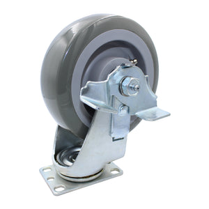 "450 lb CASTER 6"" SUPER-DUTY POLYURETHANE SWIVEL-BRAKE"