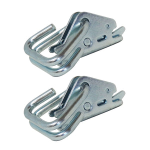 E-Track Hook-Ring Adapter Tie-Down for Hook-Straps, Rope, Cable, 2-Pack