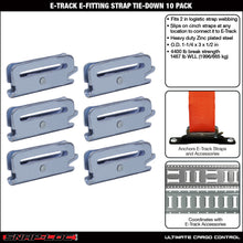 Load image into Gallery viewer, E-Track E-Fitting Strap Tie-Down 6-Pack