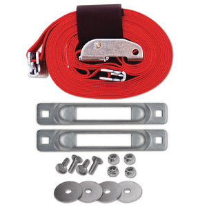 E-Track Single Cart Strap Tie-Down Anchor Kit with 2 in x 16 ft Cam 3,000 lb