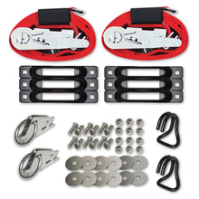 E-Track Single Truck Trailer 6-Pack Tie-Down Anchor Kit with 2 in x 16 ft Ratchet Straps 4,400 lb Plus Rings Hooks