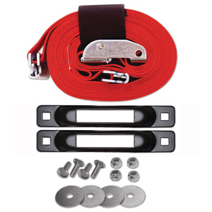 E-Track Single Tailgate Strap Tie-Down Anchor Kit with 2 in x 16 ft Cam 3,000 lb