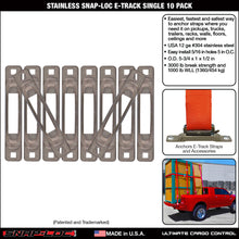 Load image into Gallery viewer, Stainless Snap-Loc E-Track Single Strap Anchor 10-Pack
