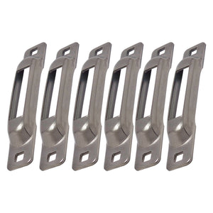 Stainless Snap-Loc E-Track Single Strap Anchor 6-Pack