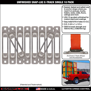 Unfinished Snap-Loc E-Track Single Strap Anchor 10-Pack