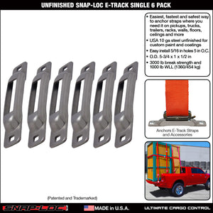 Unfinished Snap-Loc E-Track Single Strap Anchor 6-Pack