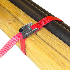 "1"" x 2' CINCH STRAP TIE-DOWN with CAM 1500 lb 2 PACK"