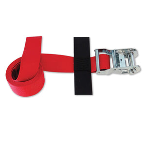 "2"" X 8' CINCH STRAP TIE-DOWN WITH RATCHET 4400 LB"