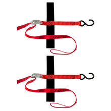 "Load image into Gallery viewer, 1"" x 4' S-HOOK LOOP STRAP TIE-DOWN with CAM 1500 lb 2 PACK"
