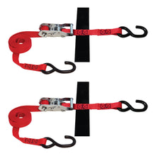 1 in x 8 ft S-Hook Ratchet Strap Tie-Down 2,500 lb 2-Pack