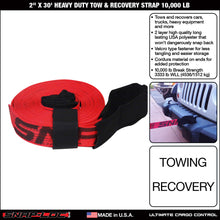 Load image into Gallery viewer, 2 in x 30 ft Heavy Duty Tow Recovery Strap 10,000 lb